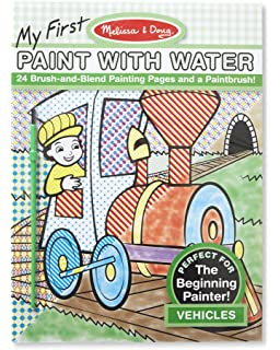 melissa doug my first paint with water 4 styles to choose from - Water Coloring Book