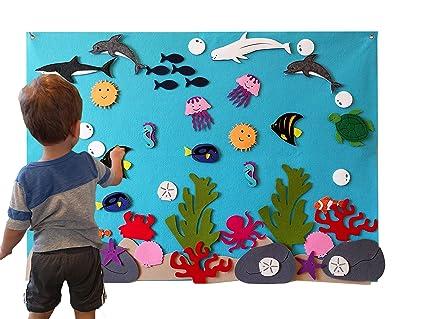 Amazon Com Felt Flannel Board Under The Sea Ocean Aquarium Fish