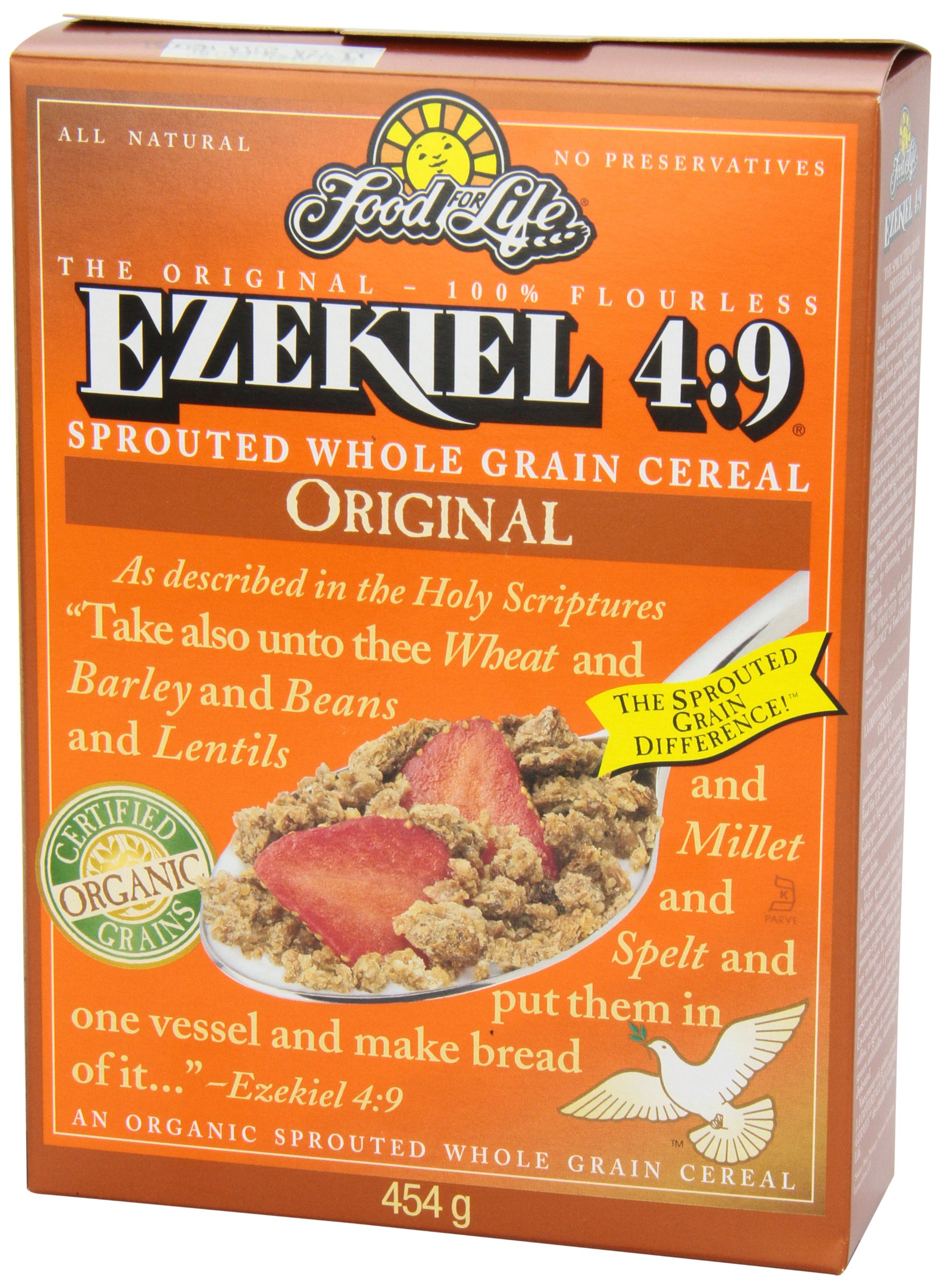 Food For Life Ezekiel 4:9 Organic Sprouted Whole Grain Cereal, Original, 16-Ounce Boxes (Pack of 6) by Food for Life (Image #7)