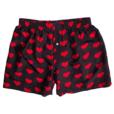 Silk Heart Boxers By Royal Silk Valentine S Day Red On Black