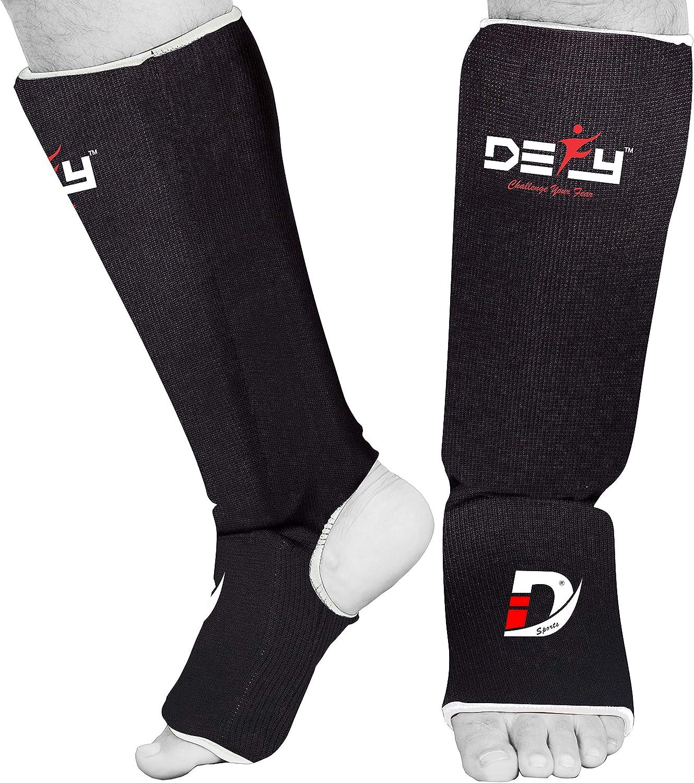 Martial Arts Cloth Shin Guard Taekwondo MMA Foot Protective Gear Protector for Sparring