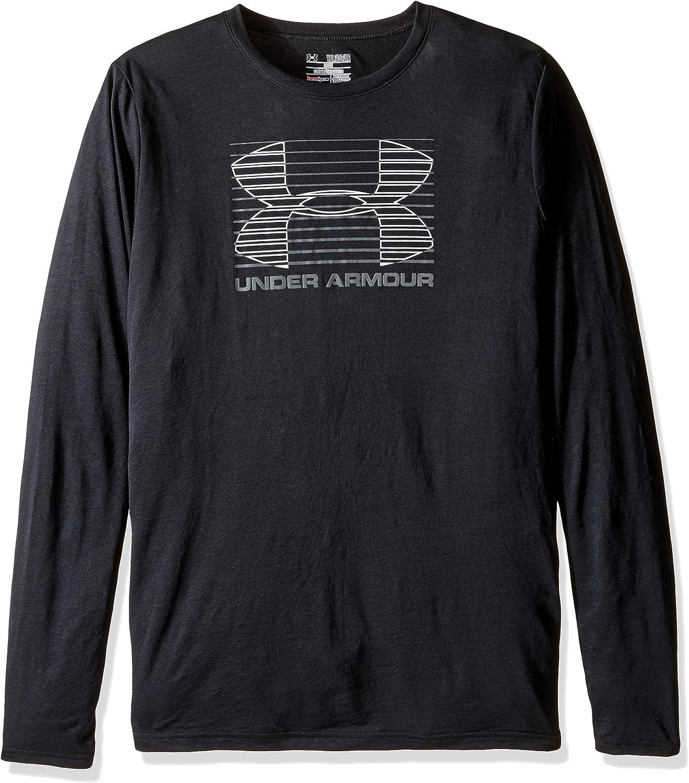 Under Armour Boys Break Through Logo Long Sleeve T-Shirt