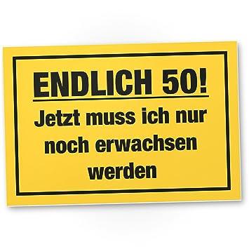 DankeDir! Endlich 50 Jahre, Kunststoff Schild - Geschenk 50. Geburtstag  Bester Freund/Freundin, Geschenkidee Geburtstagsgeschenk 50ten Geschenk  50er ...