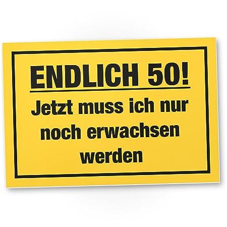 DankeDir!. por Fin 50 años, plástico Cartel - 50 cumpleaños ...