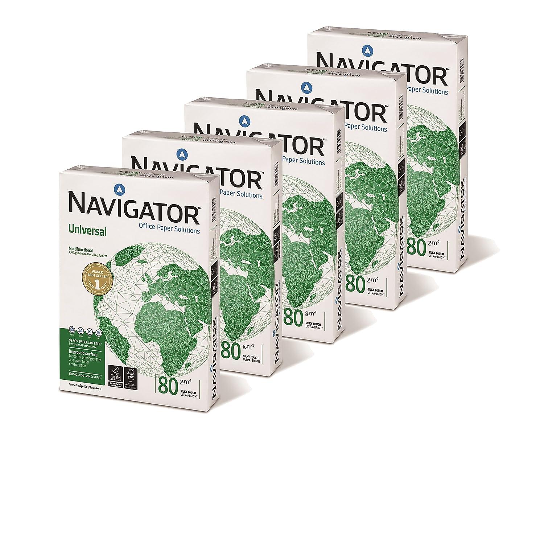 Confezione da 5 Risme da 250 Fogli 160 gr Navigator Office Card Carta Premium per ufficio Formato A4