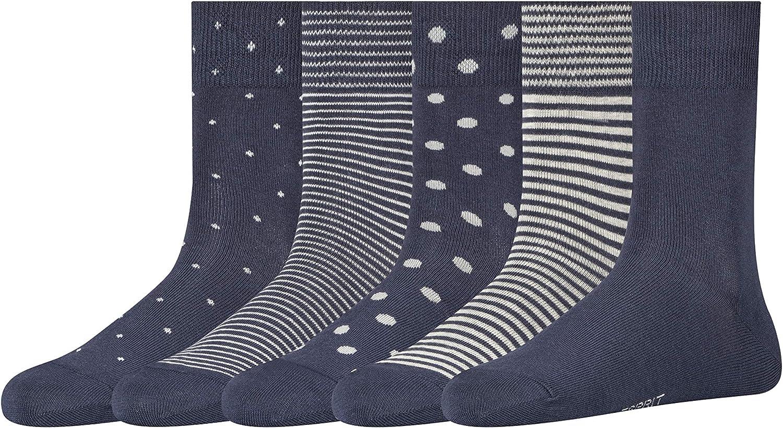 Esprit Damen Easy 5 Pack Socken Mehrfarbig Sortiment 0020 36 41 5er Pack Bekleidung