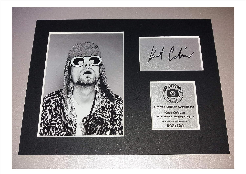 Kurt Cobain - Nirvana - firmada con autógrafo de - montaje en Y ...