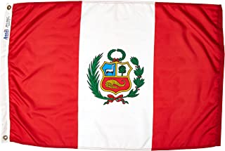product image for Annin Flagmakers Model 196680 Peru Flag Nylon SolarGuard NYL-Glo, 2x3 ft, 100% Made in USA to Official United Nations Design Specifications