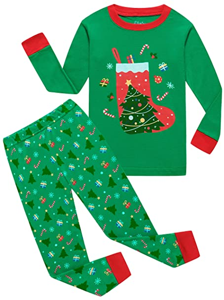 shelry Boys Christmas Pajamas for Girls Santa Sock Sleepwear Toddler  Children Clothes Size 5 a1351de05