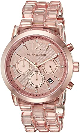 85392333d15e Image Unavailable. Image not available for. Color  Michael Kors Women s Audrina  Rose Gold-Tone Watch MK6203