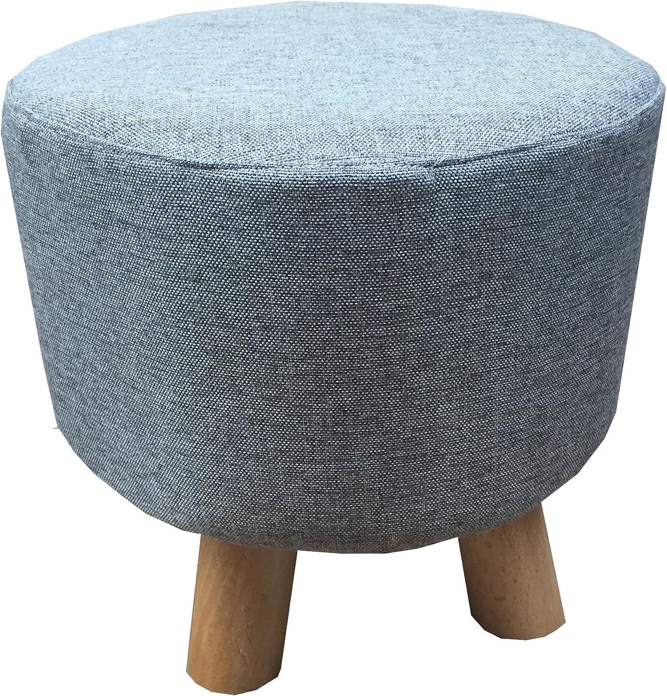 Green, Square Hampton /& Stewart Modern Upholstered Large Footstool Ottoman Pouffe Stool Wooden 4Legs