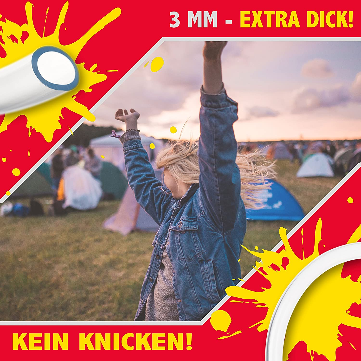 Beer Twister: Hurricane Beer-Bong 2,1 litre beer chute with stopcock /& replaceable mouthpiece perfect drinking game for parties /& festivals