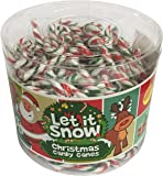 Mini Peppermint Candy Canes - 250 Pack