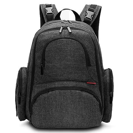 Mochila CoolBELL para guardar pañales de bebé, con bolsillos independientes/Bolso de gran tamaño y resistente al agua/Mochila de viaje multi ...
