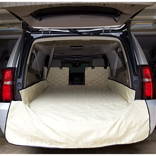 Plush Paws Waterproof Cargo Liner, Bumper Flap, Machine Washable