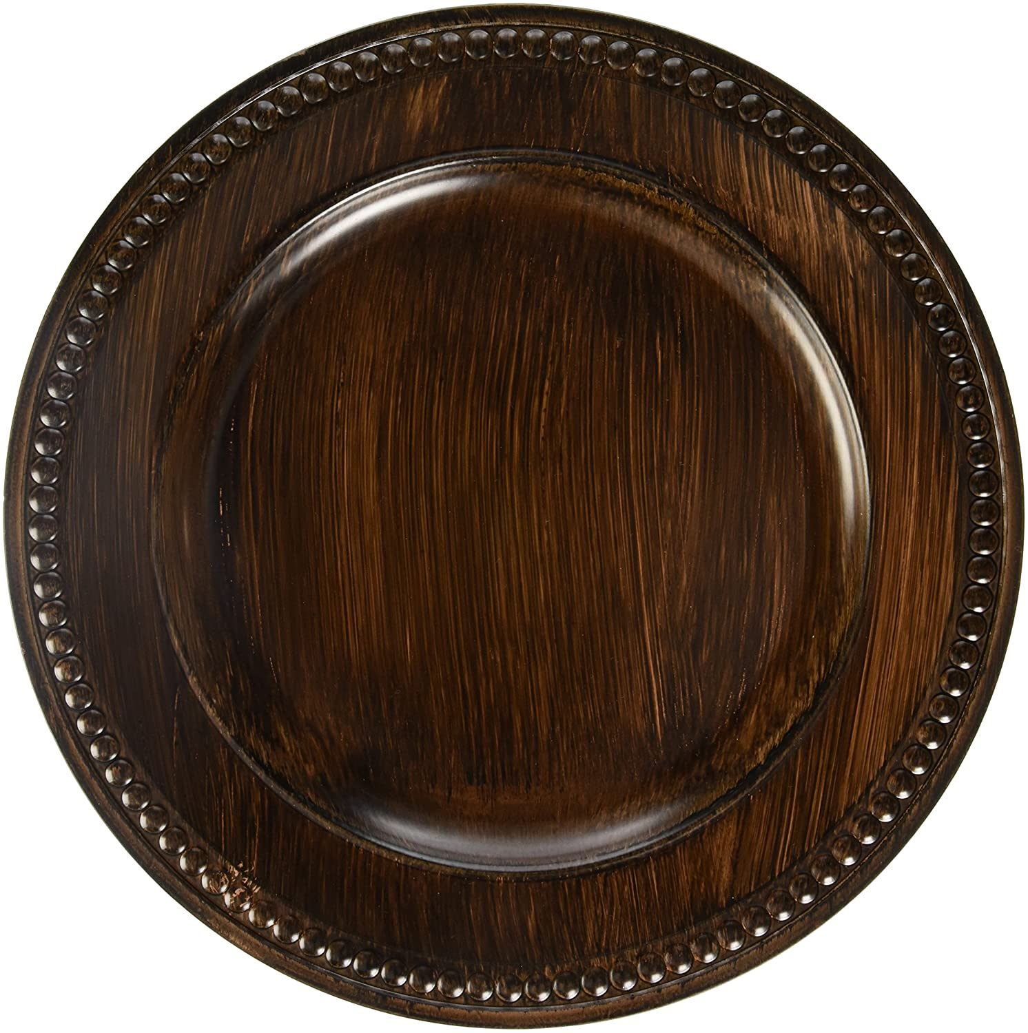 ChargeIt by Jay The Jay Companies Beaded Charger Plate, Brown 1320398