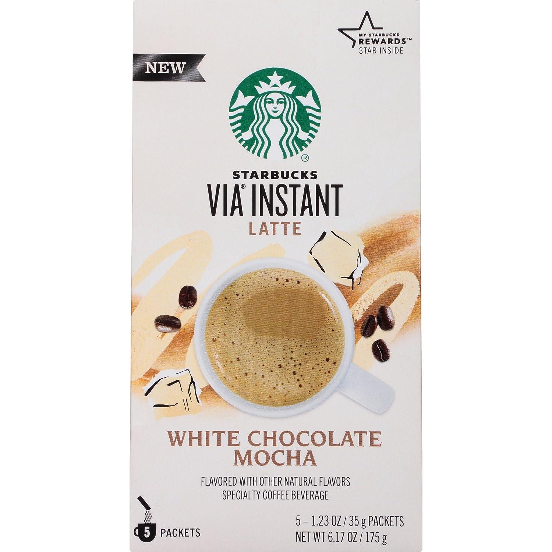 Starbucks VIA Instant Coffee, White Chocolate Mocha, 30 Count