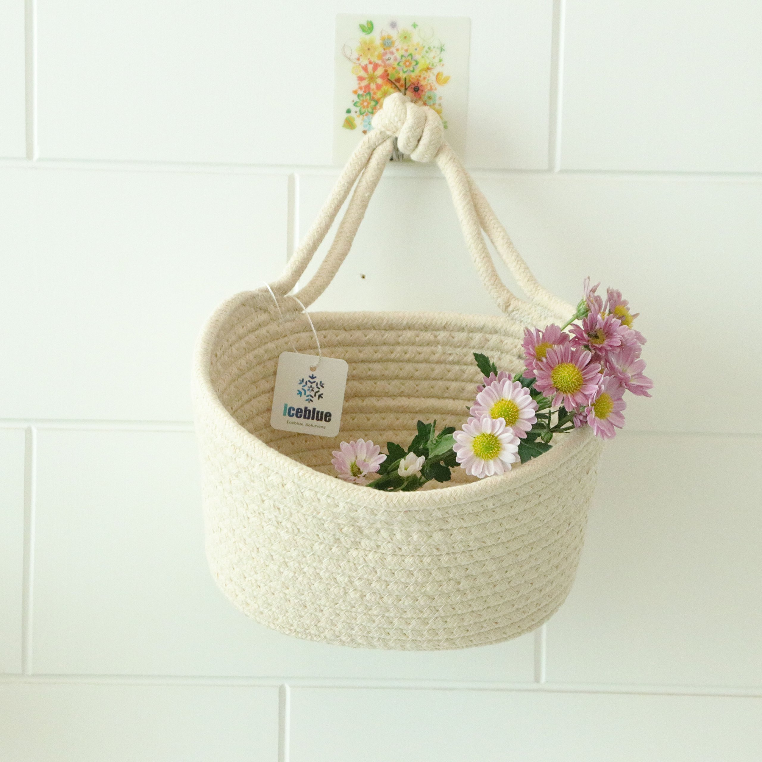 ICEBLUE HD Decorative Wall hanging organizer Closet Window Hanging Storage Basket Storage Bin