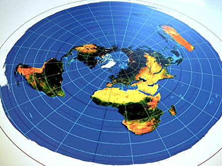 USGS Radar Map Azimuthal Equidistant Projection 40x30 inch FLAT EARTH MAP