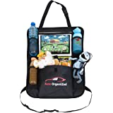 Luxury Car Backseat Organizer by Auto OrganiiZed for Kids and Toddlers with BIG Tablet Holder for IPad or Android - Kick Mat and Backseat Protector, Car Organizer