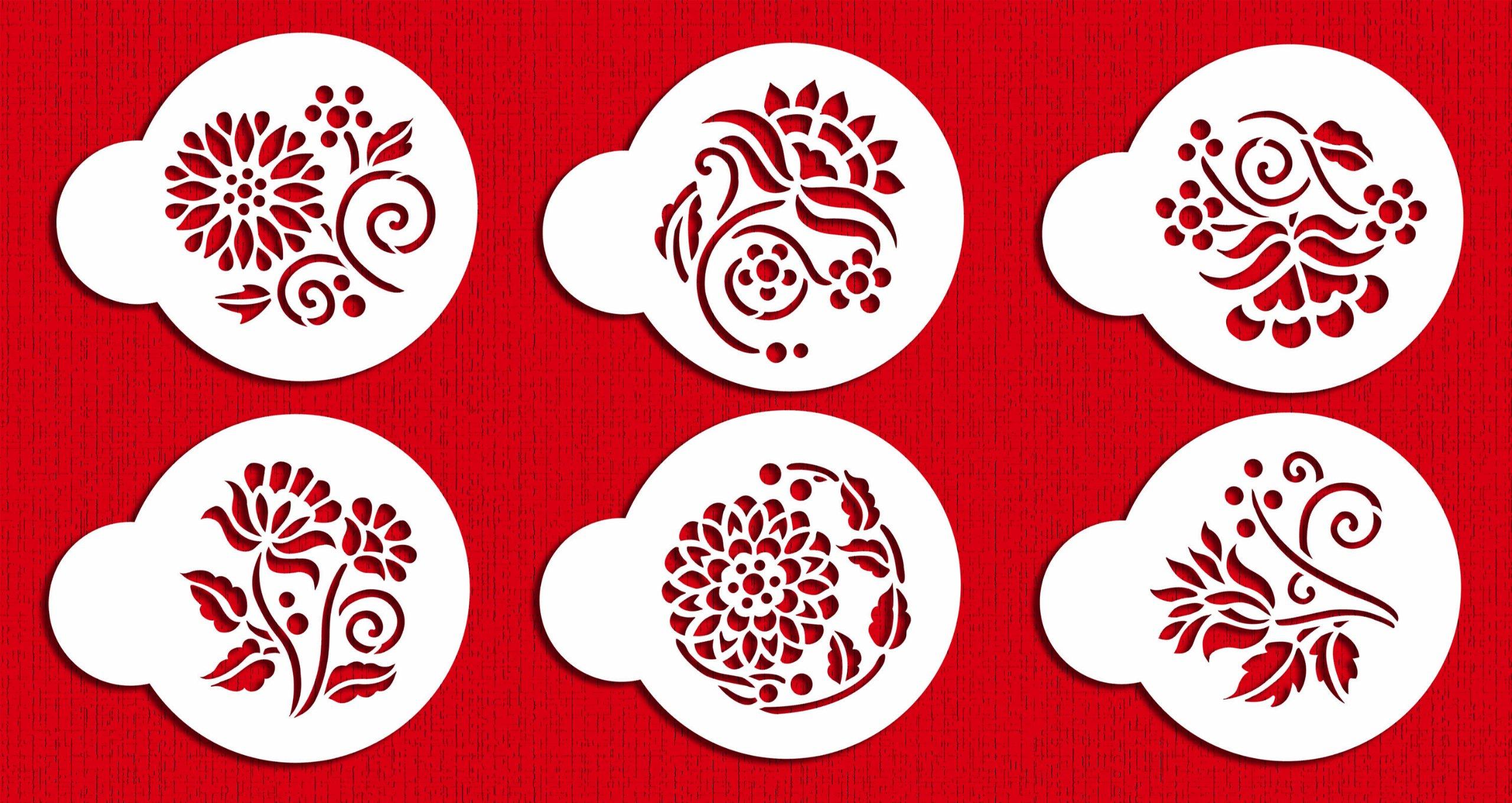 Crewel Flowers Stencil Set by Designer Stencils