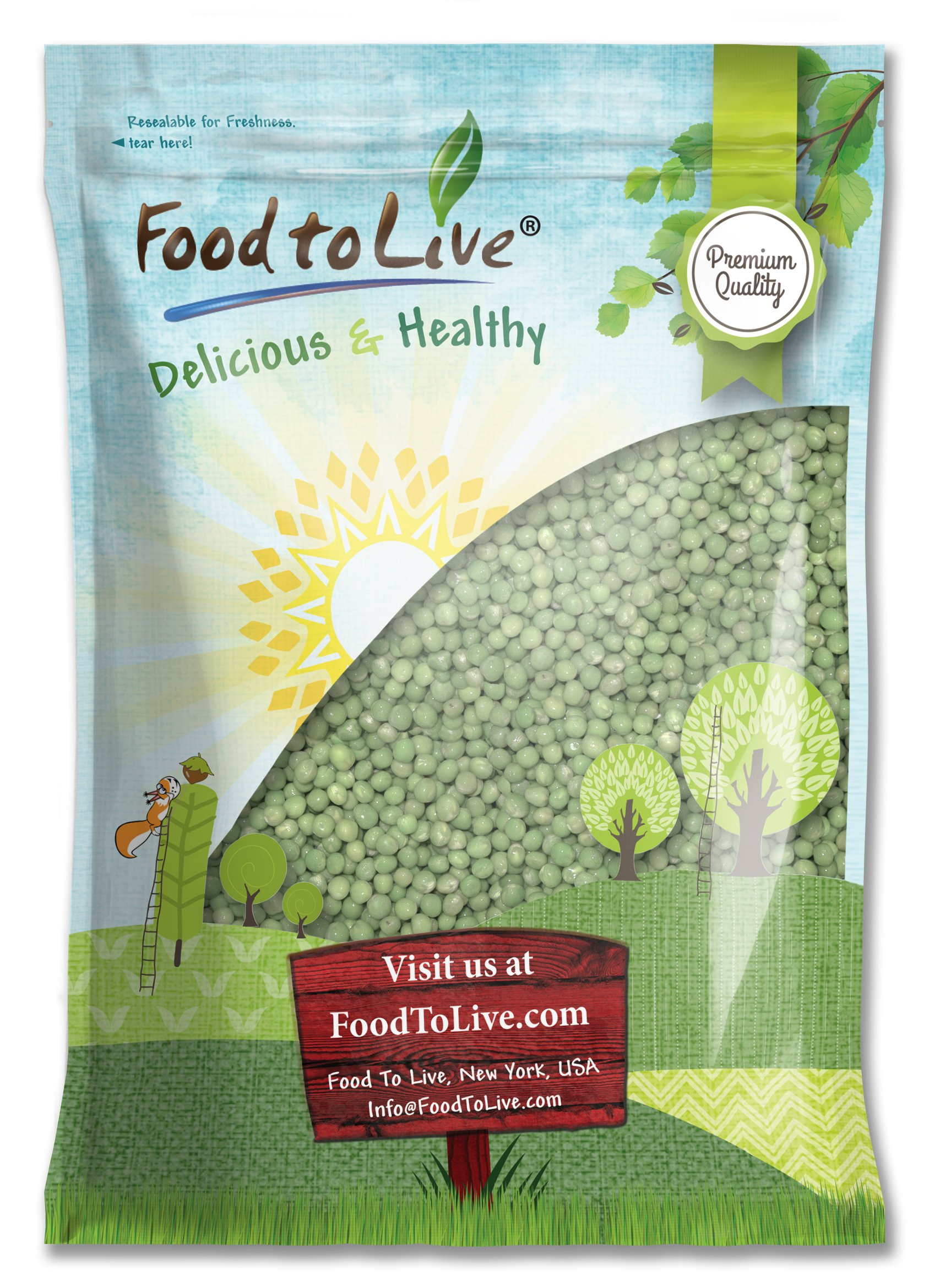 Green Peas by Food to Live (Whole, Raw, Kosher) — 10 Pounds