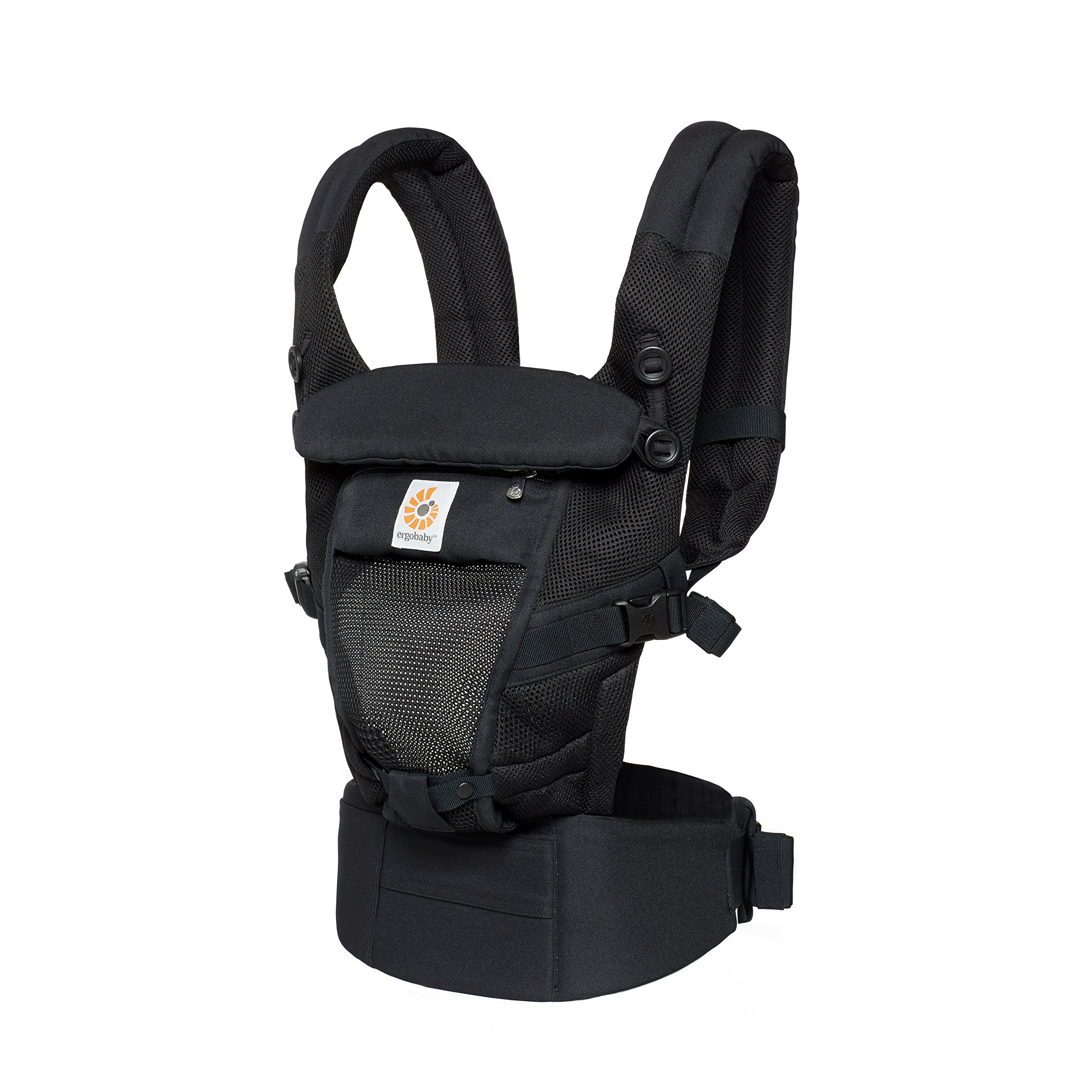 Ergobaby Adapt Baby Carrier, Infant To Toddler Carrier, Pearl Grey, Cool Air Mesh, Multi-Position, Onyx Black