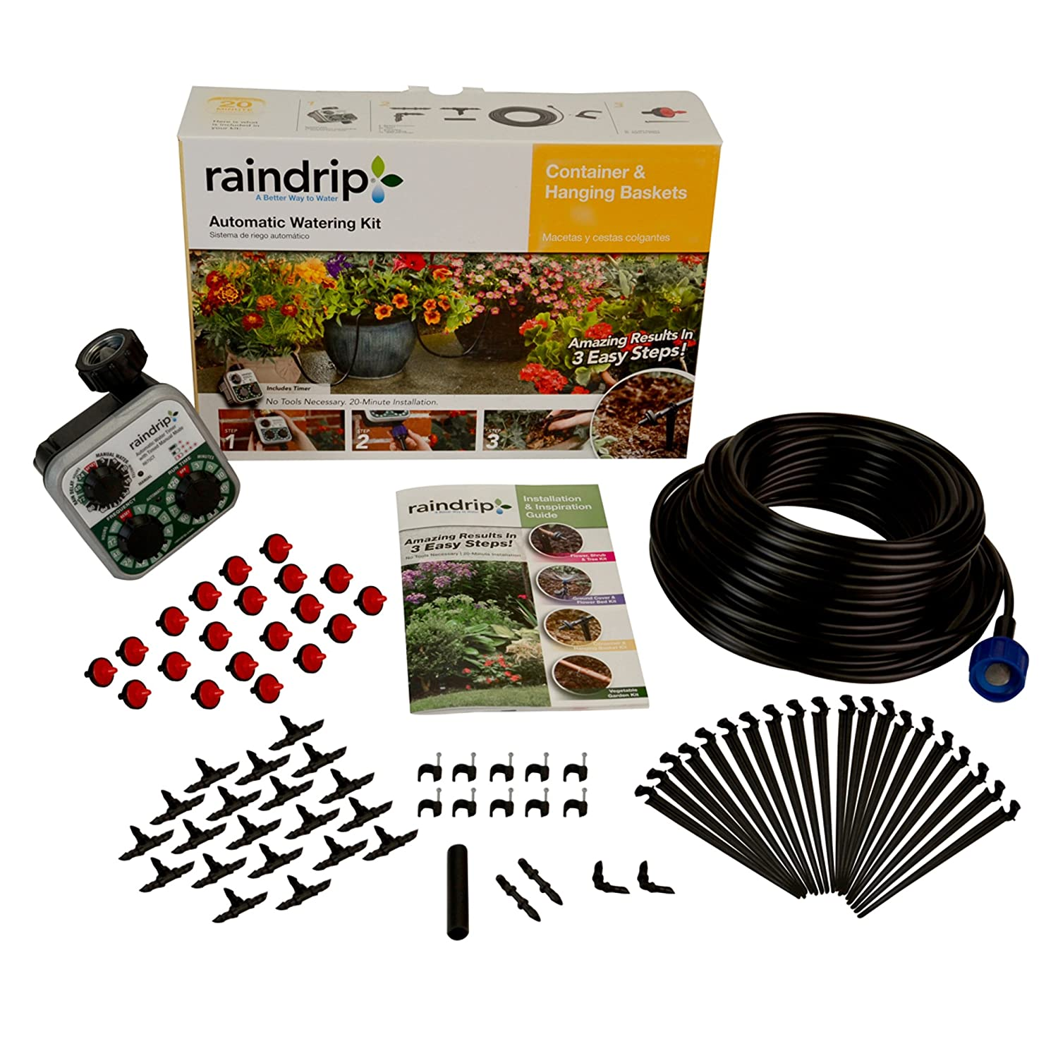 Raindrip R560DP Containr and Hang Basket Kit