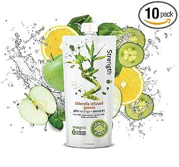 Lemonkind SUPER DETOX ME Strength Cleanse Juice - Chlorella Infused Greens,  12 ounces