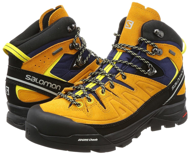 SALOMON Chaussures de randonnée X Alp Mid Ltr GTX Homme Vert kaki et noir