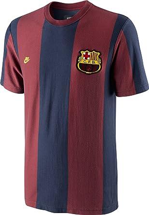Nike Barcelona F.C. - Camiseta de fútbol Vintage 73, talla XXL, color rojo