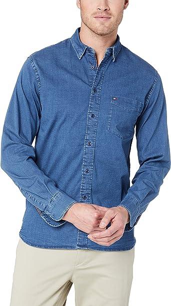 Tommy Hilfiger Organic Stretch Denim Shirt Camiseta para Hombre: Amazon.es: Ropa y accesorios