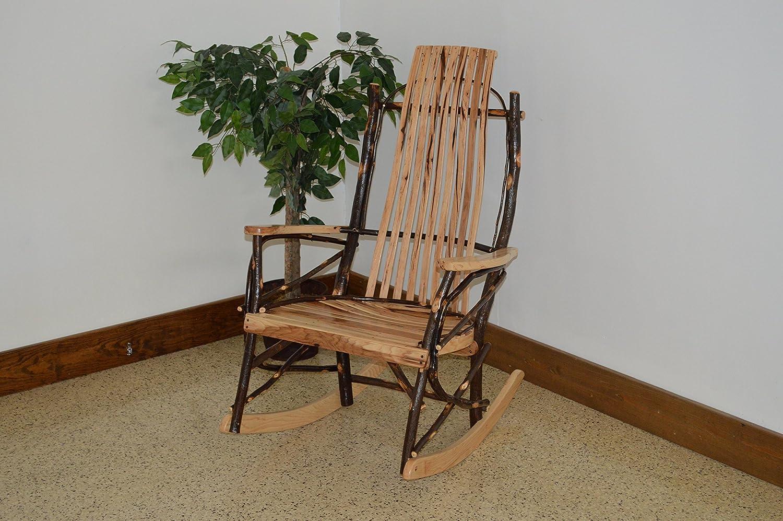 A L Furniture 2021 Hickory 9-Slat Rocker Chair, Natural Finish