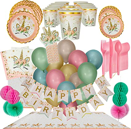 GOLD CELEBRATION Birthday Party Range Tableware Balloons Banners /& Decorations