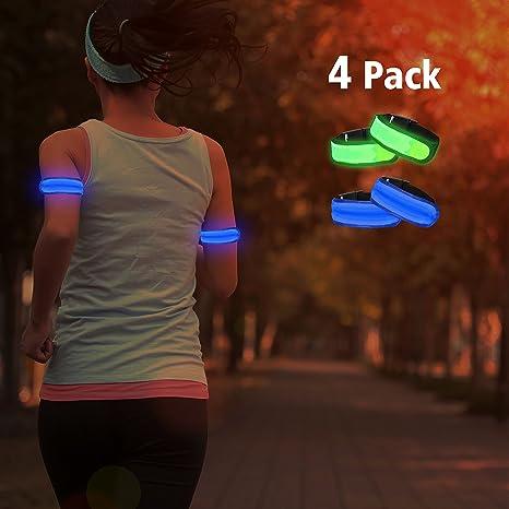 HS novedad LED cinta de correr - Alta visibilidad luz pulsera de ...