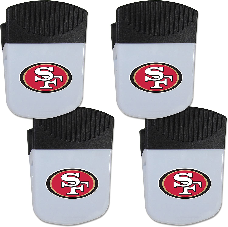Siskiyou NFL Unisex Chip Clip Magnet with Bottle Opener, 4 Pack