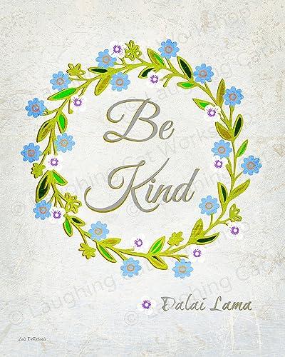 Amazon.com: Be Kind God art Dalai Lama Buddha Jesus Inspirational ...