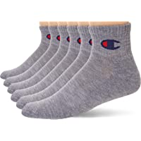 Champion mens Double Dry Moisture Wicking Champion Logo 6-pack Ankle Socks