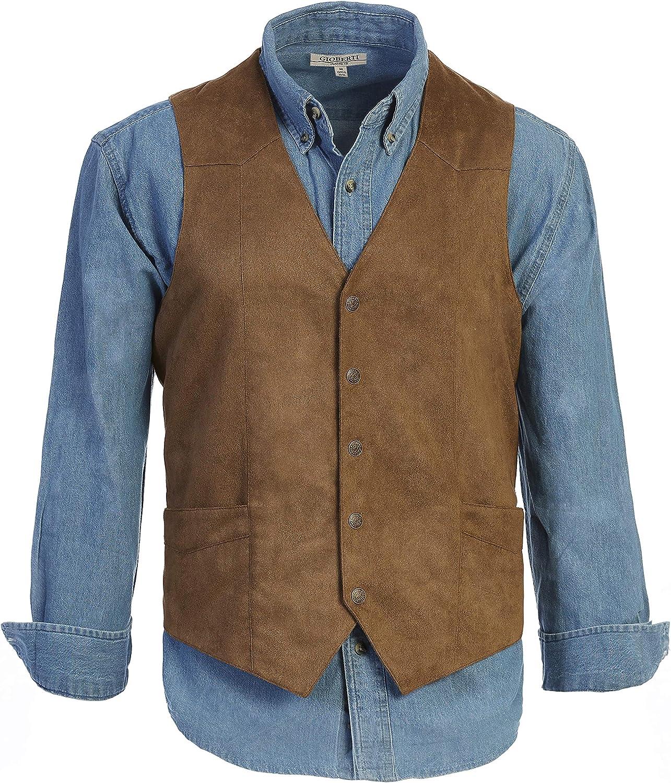 Gioberti Men's 5 Button Faux Suede Vest