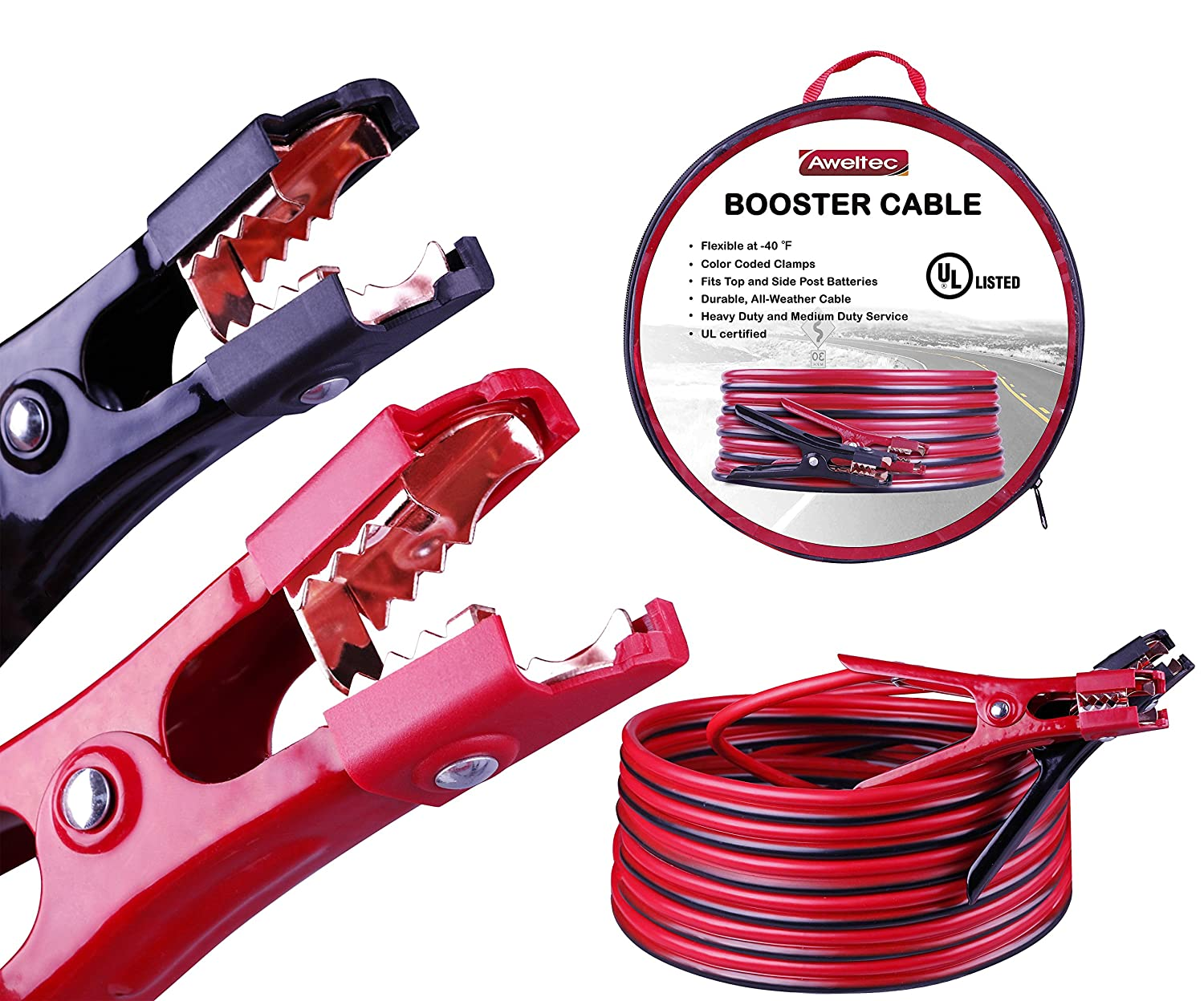AWELTEC Battery Jumper Cables 4 Gauge 20 Feet Heavy Duty Booster Cables (4AWG x 20Ft) UL Listed ZHEJIANG ALL ROAD INDUSTRIAL CO. LTD.