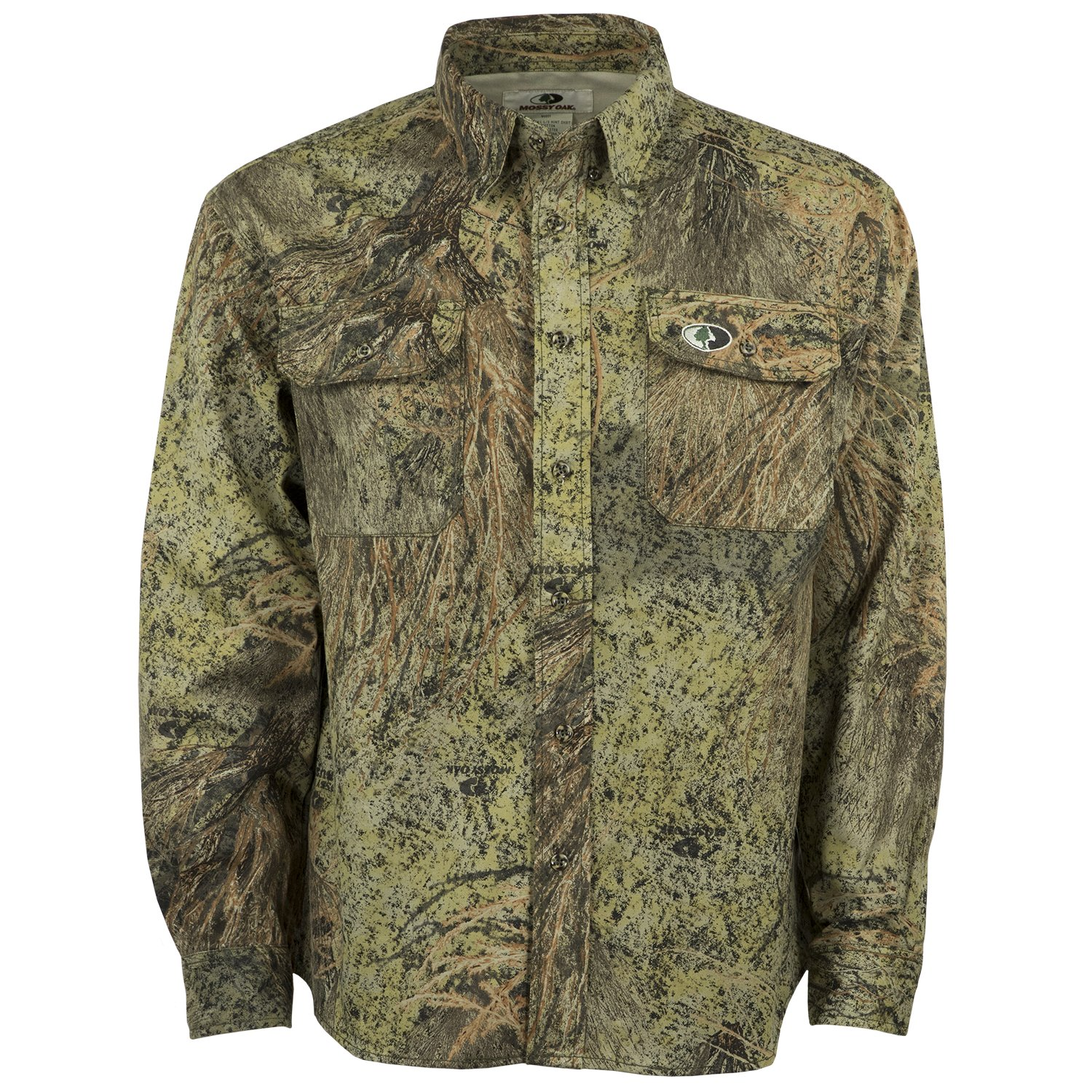 Mossy Oak Men's Cotton Mill Hunt Shirt by Mossy Oak
