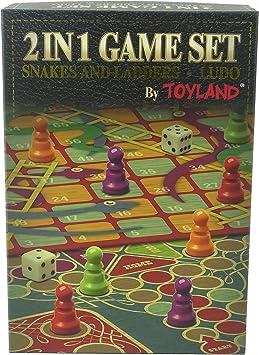 Juego de mesa familiar Toyland® 2 en 1 - Serpientes y escaleras y ...