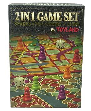 Juego De Mesa Familiar Toyland 2 En 1 Serpientes Y Escaleras Y