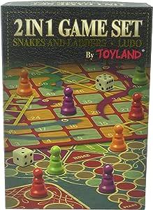 TOYLAND Juego de Mesa Familiar 2 en 1 - Serpientes y escaleras y Ludo - Juegos de Mesa Tradicionales: Amazon.es: Juguetes y juegos