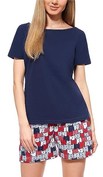Merry Style Pijamas Ropa de Dormir Verano Pijama Pantalones y Camisetas Mujer MS10-177 (