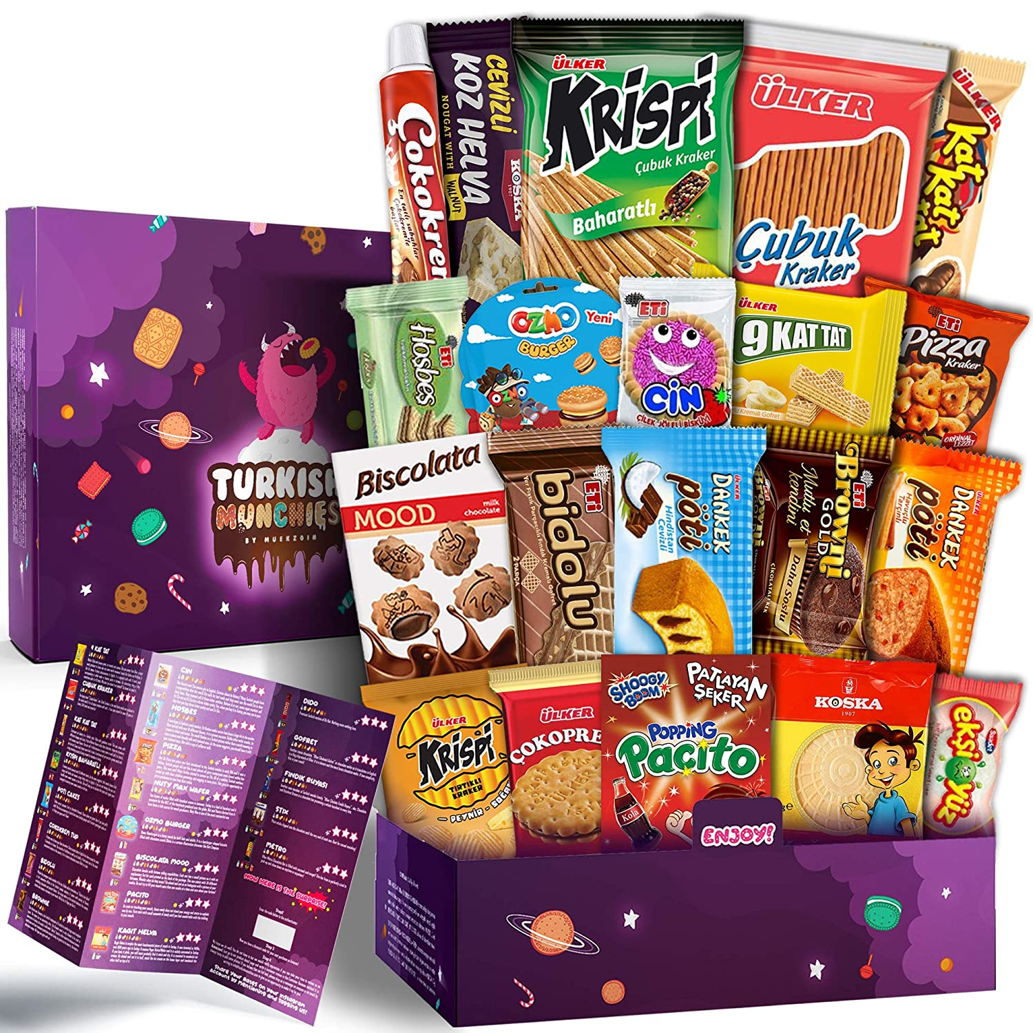 Maxi Premium International Snacks Variety Pack Care Package for Adults and Kids, Ultimate Assortment of Turkish Treats, Mix variety pack of Foreign Candy or Foreign Snacks Box Summer Limited Edition