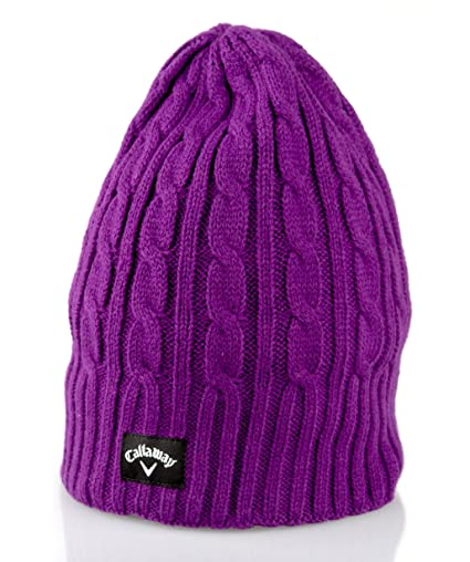 Amazon.com   Callaway Ladies 2015 Cable Knit Winter Thermal Womens ... 7f30620e3dd5