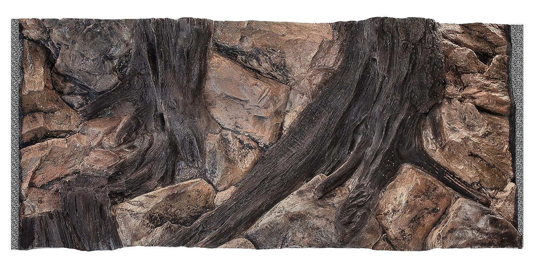 Acuami acuario decorativo fondo 3D, Root, Tamaño 100 x 50 cm, dimensiones de montaje 97 x 45 cm: Amazon.es: Productos para mascotas
