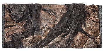 Acuami acuario decorativo fondo 3D, Root, Tamaño 100 x 50 cm, dimensiones de