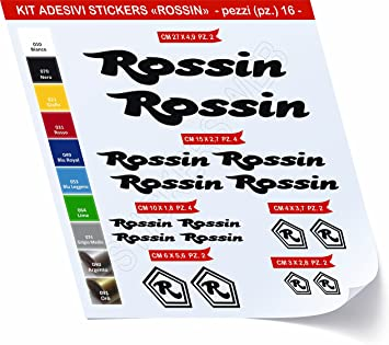 Pegatinas Bicicleta Rossin Kit Pegatinas Stickers 16 Piezas ...